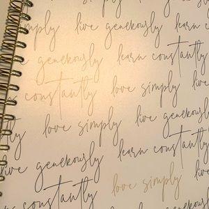 NWT Indigo Love Simply Large Notebook